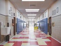 Interior do corredor da escola Fotos de Stock Royalty Free