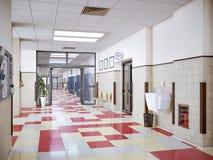 Interior do corredor da escola Foto de Stock