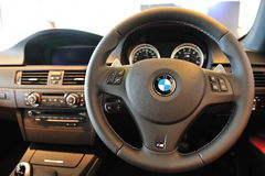 Interior do cupé de BMW M3 Imagens de Stock