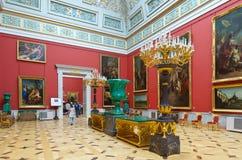 Interior do eremitério do estado. St Petersburg Imagem de Stock Royalty Free