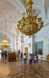 Interior do eremitério do estado. St Petersburg Fotos de Stock Royalty Free