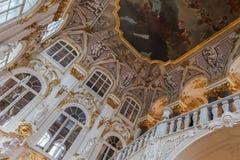 Interior do eremitério do estado, St Petersburg imagens de stock