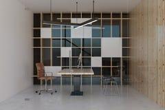 Interior do escritório de Minimalistic Fotografia de Stock Royalty Free