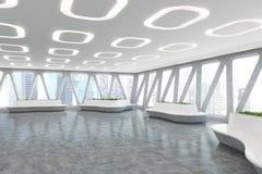 Interior do escritório do estilo da nave espacial, dianteiro Imagem de Stock