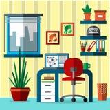 Interior do escritório domiciliário Imagens de Stock Royalty Free