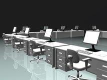 Interior do escritório, o Internet. ilustração do vetor