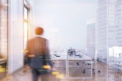 Interior do escritório do quadro de madeira, homem de negócios Foto de Stock Royalty Free