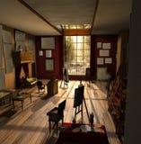 Interior do estúdio ou da galeria   Fotos de Stock Royalty Free