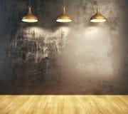 Interior do grunge de Minimalistic Imagens de Stock