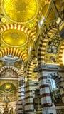 Interior do la Garde de Notre-Dame de, Marselha, França foto de stock royalty free