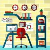 Interior do lugar de funcionamento do escritório Fotos de Stock