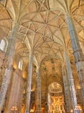 Interior do monastério Lisboa de Jeronimos, Portugal Fotos de Stock Royalty Free