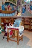 Interior do monastério ortodoxo grego dos doze apóstolos Imagens de Stock