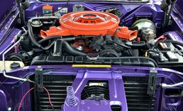 Interior do motor de automóveis Fotografia de Stock