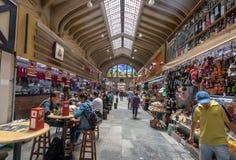 Interior do Municipal municipal de Mercado do mercado em Sao Paulo do centro - Sao Paulo, Brasil Fotografia de Stock