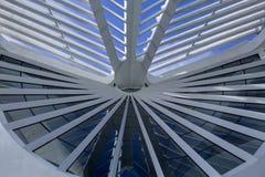 Interior do museu do amanh? no quadrado de Maua Projetado pelo arquiteto Santiago Calatrava fotos de stock royalty free