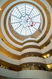 Interior do museu de Guggenheim Imagens de Stock