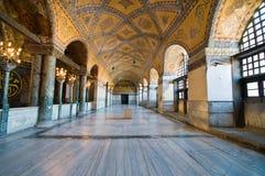Interior do museu de Hagia Sophia em Istambul. fotos de stock royalty free