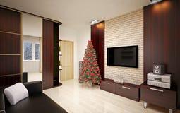 Interior do Natal Foto de Stock Royalty Free