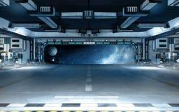 Interior do navio de espaço ilustração stock