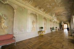Interior do palácio de Rundale A galeria grande Fotos de Stock Royalty Free