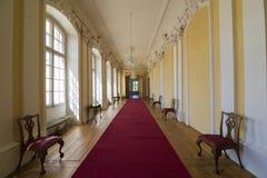 Interior do palácio de Rundale A galeria pequena Fotografia de Stock Royalty Free