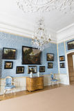 Interior do palácio de Rundale No salão de beleza holandês Foto de Stock