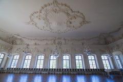 Interior do palácio de Rundale O Salão branco Foto de Stock Royalty Free