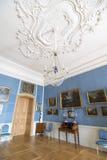 Interior do palácio de Rundale O salão de beleza italiano Imagens de Stock