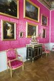 Interior do palácio de Rundale A sala de recepção Foto de Stock Royalty Free