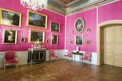 Interior do palácio de Rundale A sala de recepção Foto de Stock