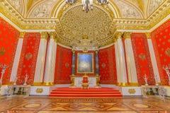Interior do palácio do inverno no quadrado do palácio em St Petersburg, Fotos de Stock Royalty Free