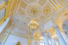 Interior do palácio do inverno no quadrado do palácio em St Petersburg, Imagem de Stock