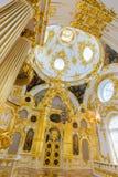 Interior do palácio do inverno no quadrado do palácio em St Petersburg, Foto de Stock Royalty Free