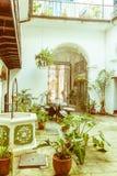 Interior do palácio do ` s da contagem de Lombillo, situado no Cathedra Imagem de Stock Royalty Free