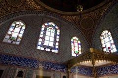 Interior do palácio de Topkapi em Istambul Foto de Stock Royalty Free