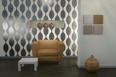 Interior do projeto. Quarto moderno. Fotos de Stock Royalty Free