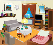 Interior do quarto Imagem de Stock