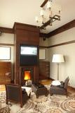 Interior do quarto com imagem de stock