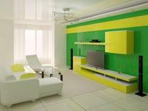Interior do quarto com cama Ilustração do Vetor