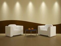 Interior do quarto com duas cadeiras ilustração royalty free