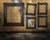 Interior do quarto de Grunge ilustração do vetor