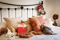 Interior do quarto do Natal fotografia de stock