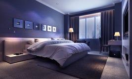 Interior do quarto, nivelando a iluminação Imagem de Stock Royalty Free