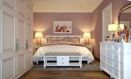 Interior do quarto no estilo de Provence ilustração royalty free