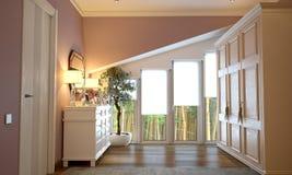 Interior do quarto no estilo de Provence ilustração do vetor
