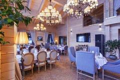 Interior do restaurante Fotos de Stock Royalty Free