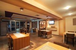 Interior do restaurante Fotos de Stock