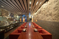 Interior do restaurante Imagens de Stock