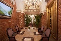 Interior do restaurante Imagem de Stock